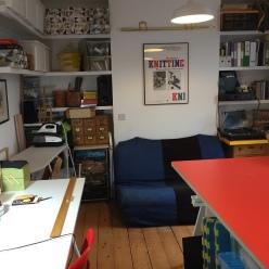 Sara Fowles studio workspace