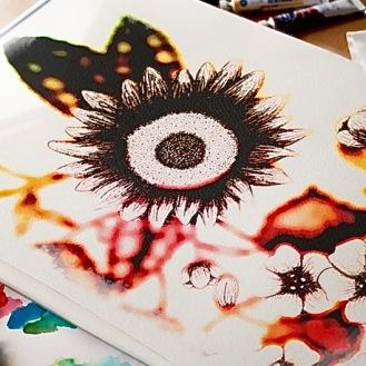 Claudeine TS Art Sunflower In Situ
